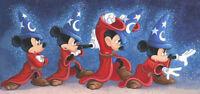 Holidays Disney Kids Cross Stitch Pattern,''The Sorcerer's Spell''