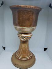 Ceramic Glaze Handcrafted Goblet Brown