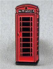 Metal Enamel Pin Badge Brooch Telephone Box Red Phone Box British Phonebox