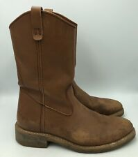 Mason  Brown Leather Pull On  Work Boots Mens Size 11.5B