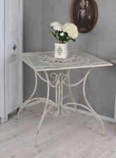Iron Table Vintage White Antique Garden Patio Metal Beistelltis Art Nouveau