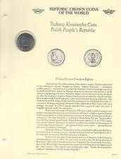 Historic Coins of World Poland 1966 10 Zlotych UNC Kosciuszko