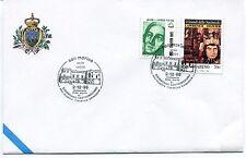 1995-12-02 San Marino Lecce centenario sigismondo castromediano ANNULLO SPECIALE