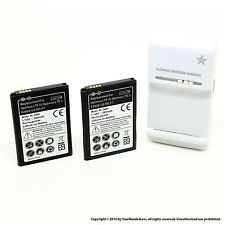 2 x 2800mAh Battery for LG F7 260S US780 BL-54SH Dock Charger