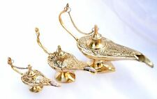 Christmas Gift -Set oF 3 Aladin Aladdin Lamps Oil Incense Burner Handicraft vtg