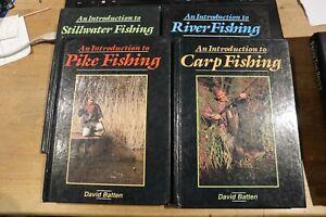 4 DAVID BATTEN BOOKS - CARP PIKE FISHING BOOK