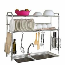 New Creatwo Dish Rack 2 Tier Stainless Steel Adjustable Dish Drainer Dish Drying