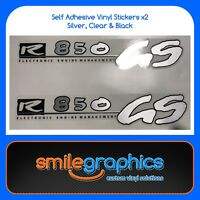 BMW R 850 GS Tank Decals. Black, Clear, Silver Stickers