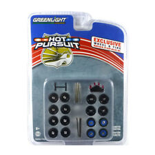"""Greenlight 13171 Tyre Set """" Hot Pursuit - Exclusive Wheel & Tires Pack New !°"""