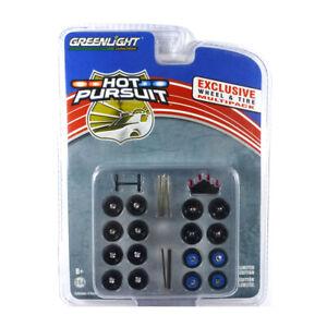 "Greenlight 13171 Reifenset ""Hot Pursuit"" - Exclusive Wheel & Tires Pack NEU!°"