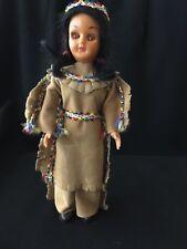 "Native American Doll American Heritage Blue Bonnet Margarine Promo 7.5"" tall"