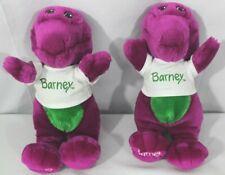 1 Barney  Purple Dinosaur Vintage 1992 Stuffed Plush with T-Shirt ~ 2 available