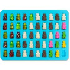 2 PACK - 50 Cavity Mini Silicone Gummy Bear Sweet Moulds & Chocolate Maker NEW