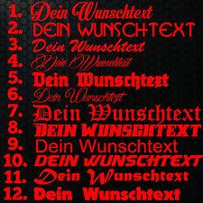 1x WUNSCHTEXT 20cm Breit Aufkleber Auto Domain Cartattox Beschriftung Schriftzug