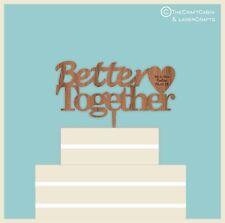 Mejor juntos-Madera Cake Topper, BODAS, COMPROMISO, ANIVERSARIO