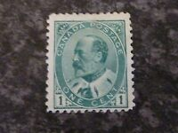 CANADA POSTAGE STAMP SG173 1C PALE GREEN LIGHTLY-MOUNTED MINT