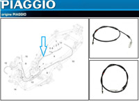 Câble de frein Arrière  d'Origine  Piaggio MP3 500 (651392)