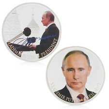 Russian President Silver Plated Commemorative Collectible Souvenir Token Coins
