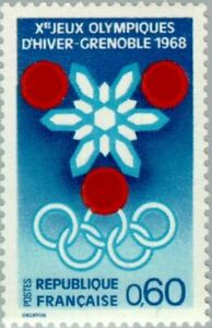 EBS France 1967 Winter Olympics, Grenoble YT1520 MNH**
