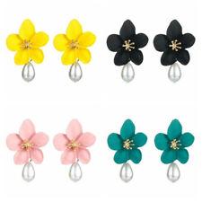 Ear Personality Flower Stud Fashion Jewelry Pearl Earrings Women Temperament New