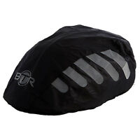 BTR High Visibilty Reflective Waterproof Bicycle Bike Helmet Cover. Black