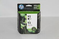 OEM HP 92 Black + 93 CMY Tri-Color Ink Cartridge C9513FN Exp 07/2020