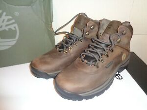 Timberland Men's White Ledge Mid Waterproof Ankle Hiking Boot US 10.5 Brown