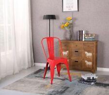 Sillas de comedor de acero para el hogar de color principal rojo