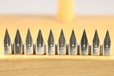 10 x Lamy Z50 Chrome Replacement Fountain Pen Nib, Medium