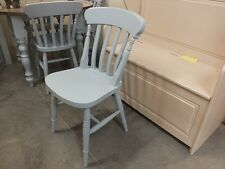 X1 PAINTED SLAT-BACK CHAIR CHOICE OF COLOURS FARROW & BALL PARMA GRAY
