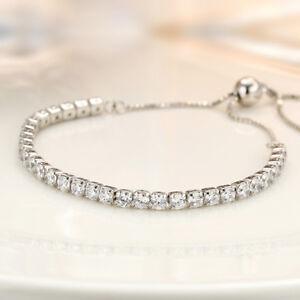 Damen Armband echt Sterling Silber 925 Zirkonia 11 - 25 cm verstellbar