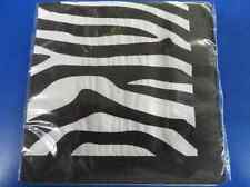 Zebra Print Jungle Safari Animal Striped Theme Birthday Party Beverage Napkins