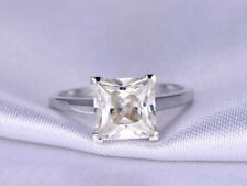2.00 Ct VVS1 Diamond Engagement Ring 14K White Gold Rings Wedding Ring Size M