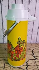 Vtg Retro Peacock Air Pot Iced Hot Tea Coffee Dispenser Vacuum Thermos Carafe