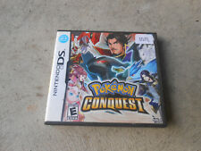 NINTENDO DS-POKEMON-CONQUEST-2012-BOOKLET-INSERTS-GAME CARTRIDGE-VG++