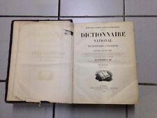 Lot de deux dictionnaires anciens 1856