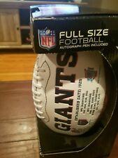 New York Giants NFL Super Bowl football Mathias Kiwanuka autograph..original box