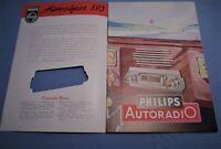 PHILIPS AUTORADIO-PROSPEKT von 1951 !! MERCEDES-BENZ 170V OPEL KAPITÄN FORD 50