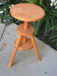 VINTAGE ARCHITECT ARTS & CRAFTS ARTIST STOOL FLOWER STAND, SIDE TABLE, END TABLE