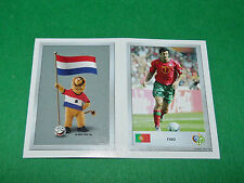 N°55 MASCOTTE NEDERLAND 64 LUIS FIGO PANINI FOOTBALL GERMANY 2006 MINI-STICKERS
