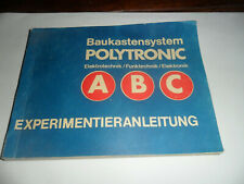 Baukastensystem Polytronic ABC - Elektro-Funk-Elektronik Experimentieranleitung