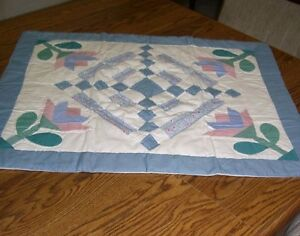 """Country Patch Work Pastel Floral Queen Quilted Cotton Pillow Sham (29"""" x 24"""")"""