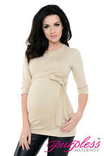 Purpless 2in1 Pregnancy Maternity and Nursing Basic Cotton Wrap Top Tee 7735