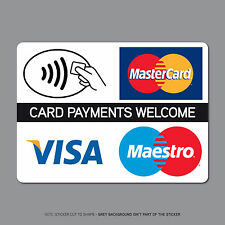 REF2507 Contactless Card Payments Sticker Credit Card Taxi Shop VISA Mastercard