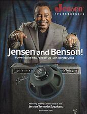 George Benson Jensen Tornado Speakers in Fender GB Twin Reverb Amp 8 x 11 ad