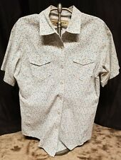 BIT & BRIDLE WOMENS BLUE FLORAL PEARL SNAP SHIRT SLEEVE SIZE S FREE SHIPPING