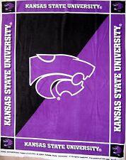 "RARE College Fleece Fabric - NCAA Kansas State Wildcat Anti-Pill 48""x 60"" Panel"