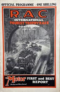 Donington Park International Tourist Trophy Race 1937 Official Programme Rare