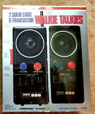 Power Tronic 2 Solid State 6 Transistor Walkie Talkies By NASTA IND. INC. ©️...