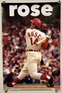 "Large 24"" x 36"" Cincinnati Reds Player Pete Rose Poster - Riverfront Stadium"